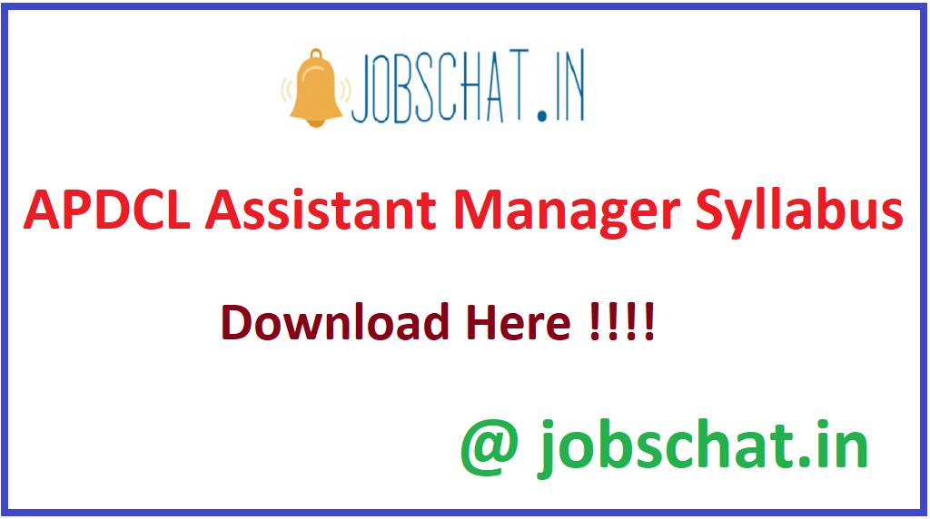 APDCL Assistant Manager Syllabus