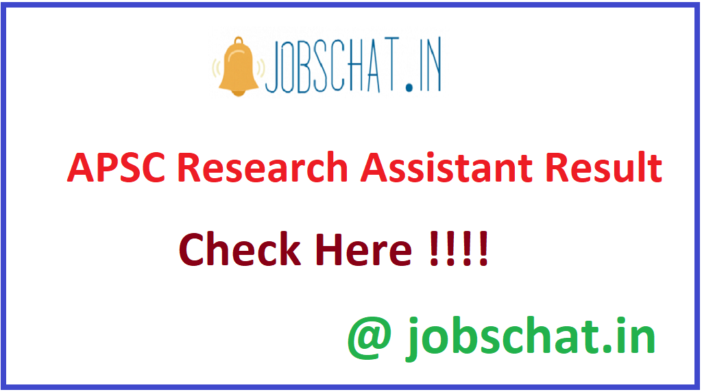APSC Research Assistant Result