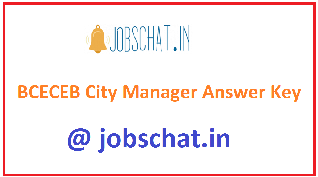 BCECEB City Manager Answer Key