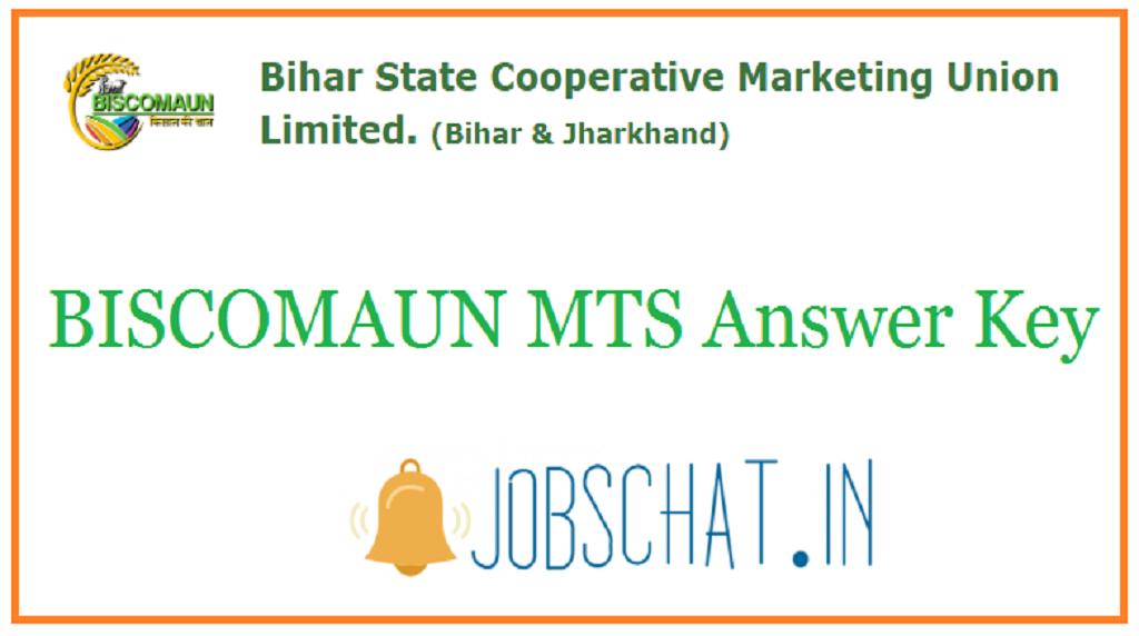 BISCOMAUN MTS Answer Key
