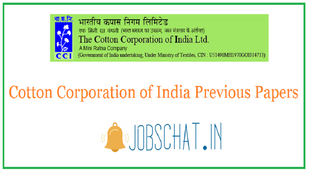 Cotton Corporation of India Previous Papers