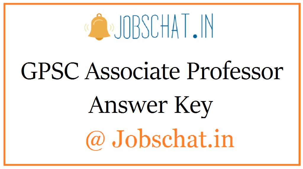 GPSC Associate Professor Answer Key