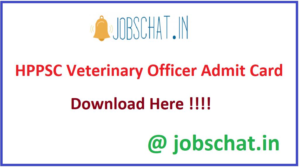 HPPSC Veterinary Officer Admit Card