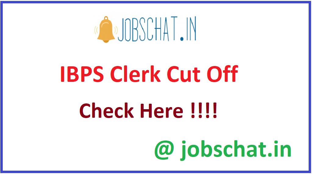 IBPS Clerk Cut Off