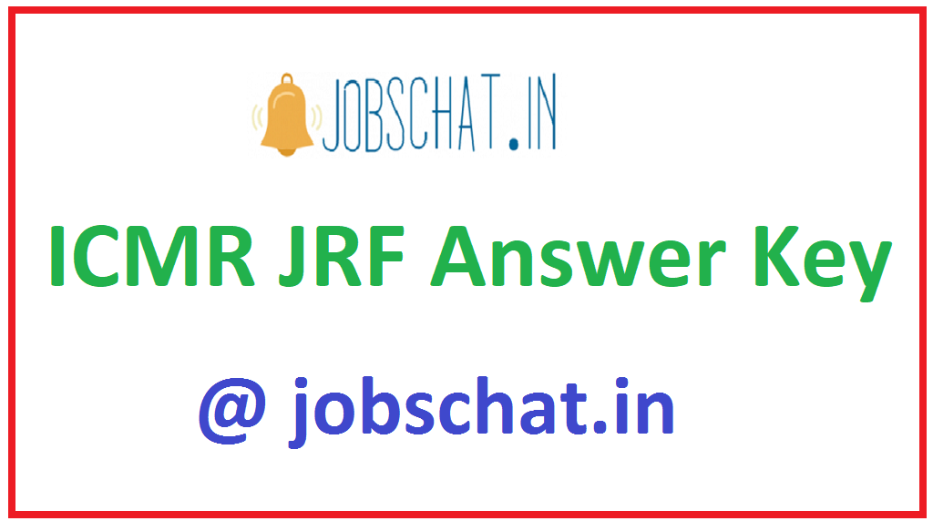 ICMR JRF Answer Key