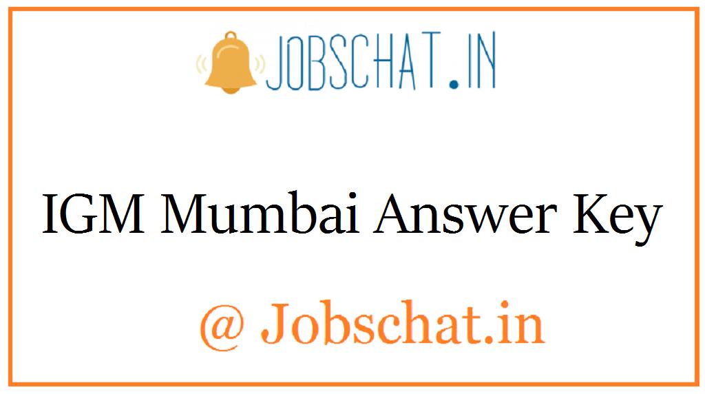 IGM Mumbai Answer Key