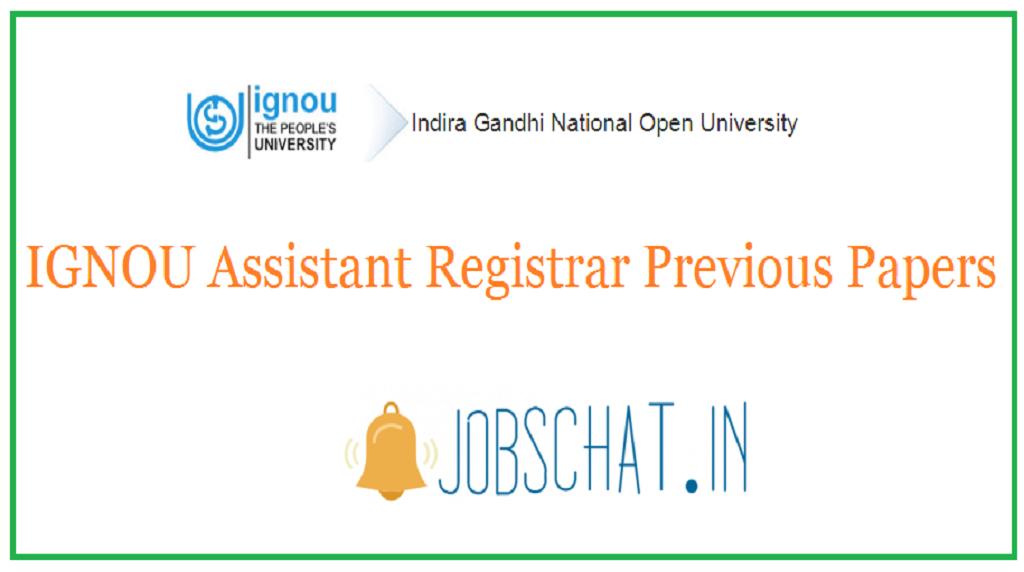 IGNOU Assistant Registrar Previous Papers