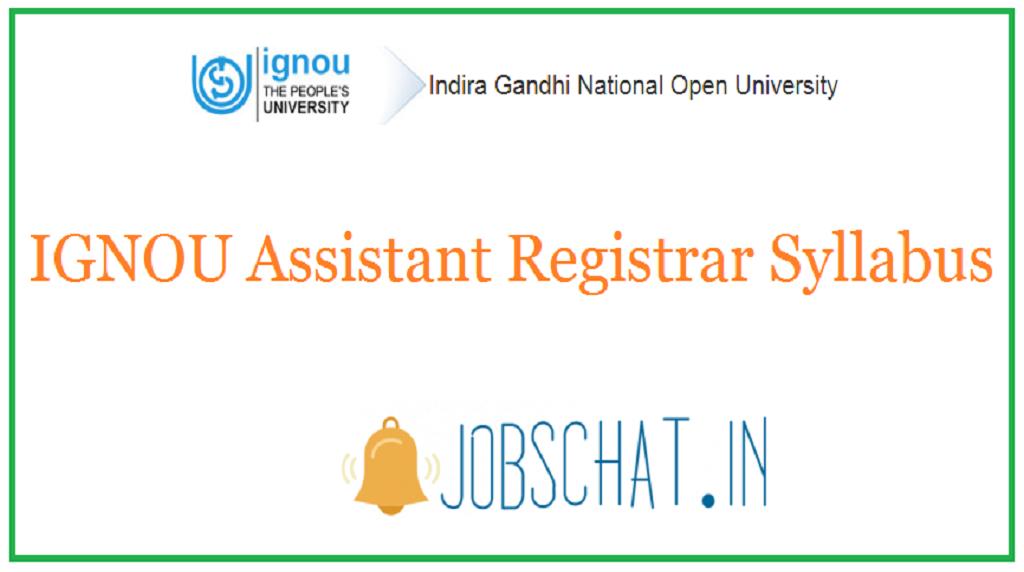 IGNOU Assistant Registrar Syllabus