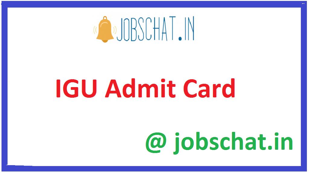 IGU Admit Card