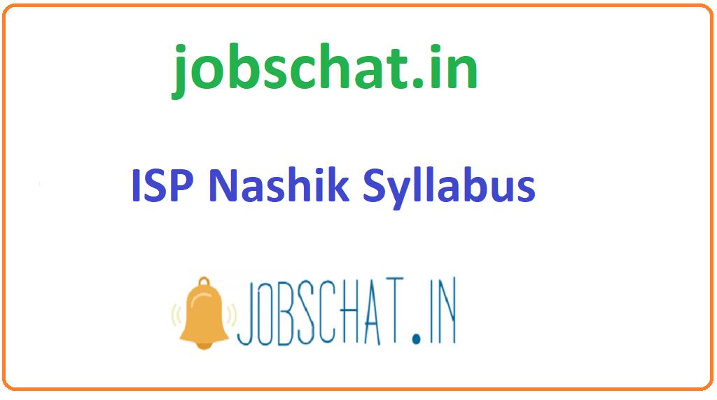 ISP Nashik Syllabus