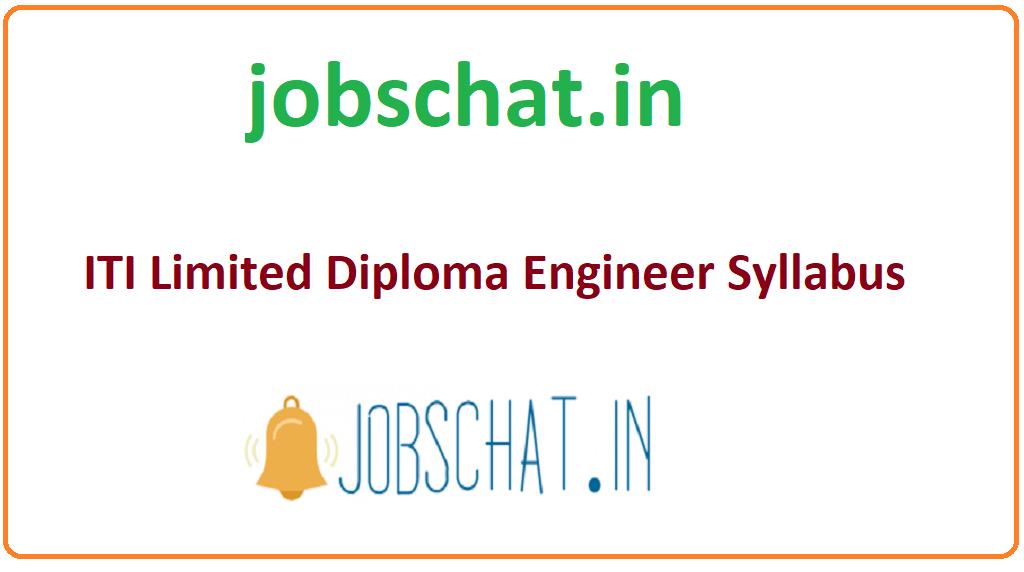 ITI Limited Diploma Engineer Syllabus