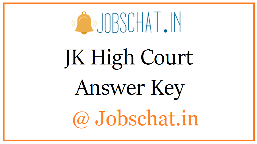 JK High Court Answer Key