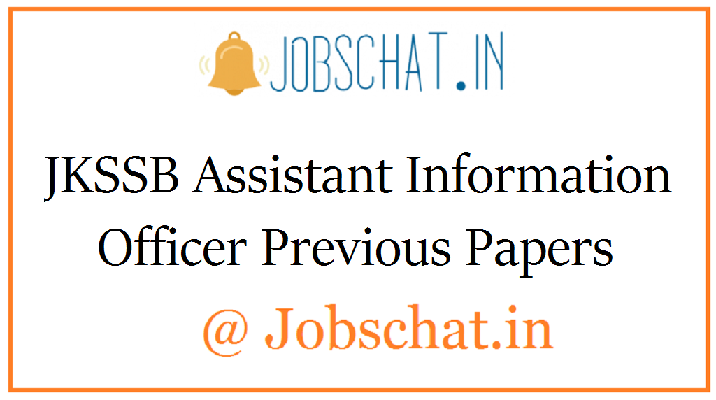 JKSSB Assistant Information Officer Previous Papers
