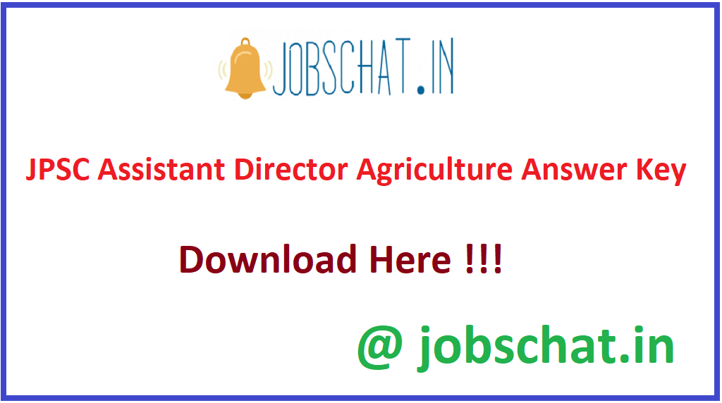 JPSC Assistant Director Agriculture Answer Key