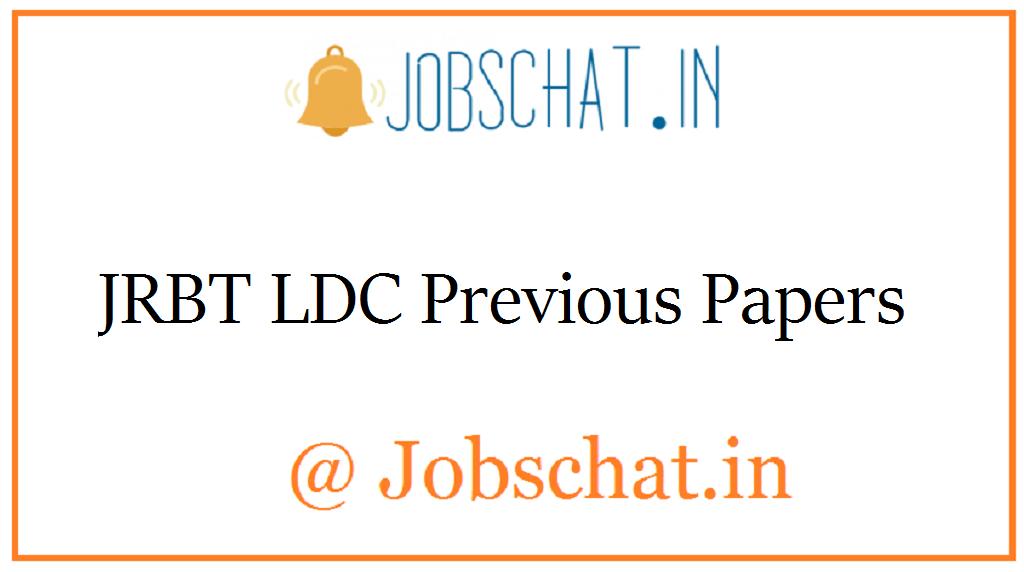 JRBT LDC Previous Papers