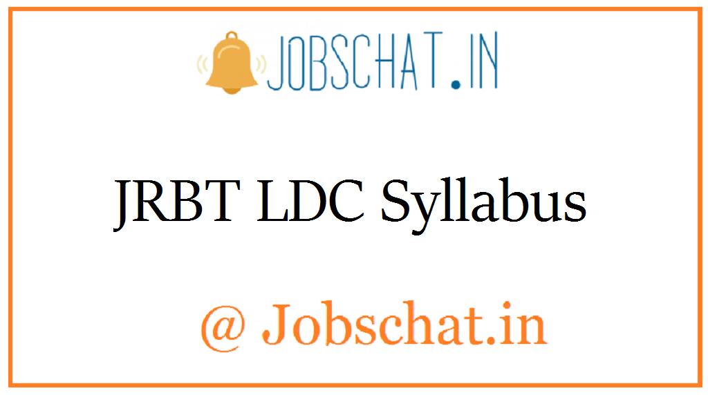 JRBT LDC Syllabus