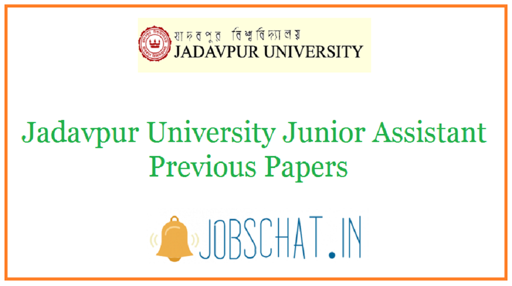 Jadavpur University Junior Assistant Previous Papers