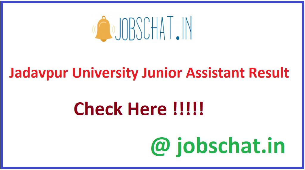 Jadavpur University Junior Assistant Result