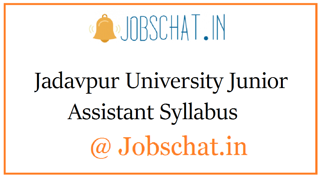 Jadavpur University Junior Assistant Syllabus
