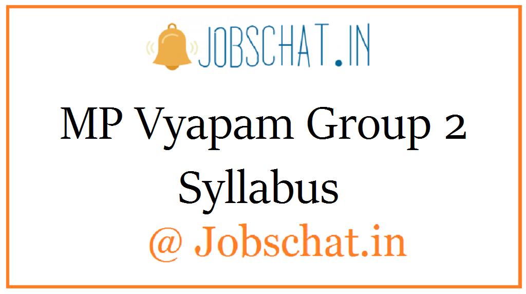 MP Vyapam Group 2 Syllabus
