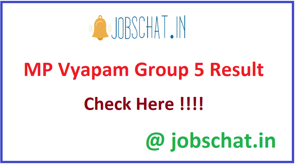 MP Vyapam Group 5 Result