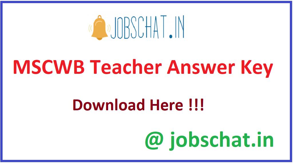 MSCWB Teacher Answer Key