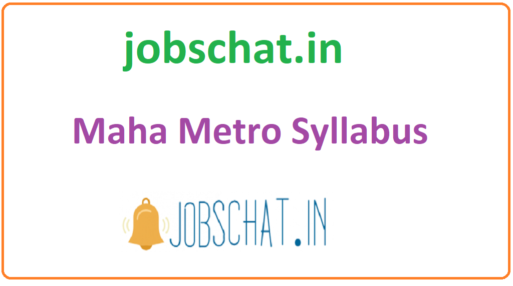 Maha Metro Syllabus