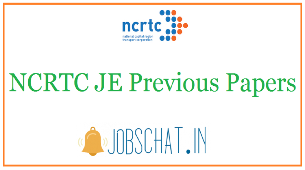 NCRTC JE Previous Papers