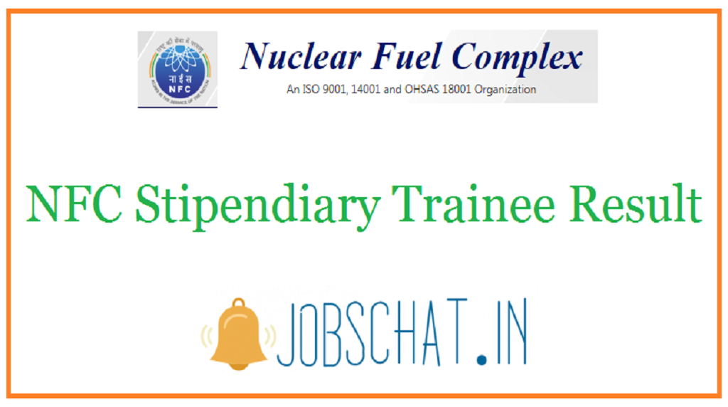 NFC Stipendiary Trainee Result