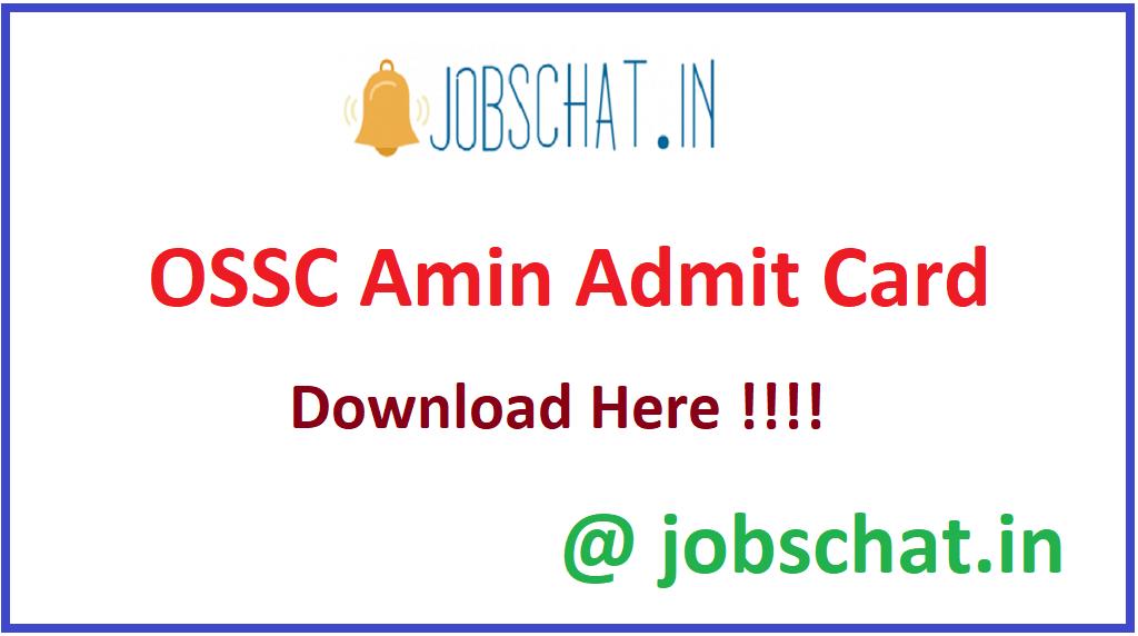 OSSC Amin Admit Card