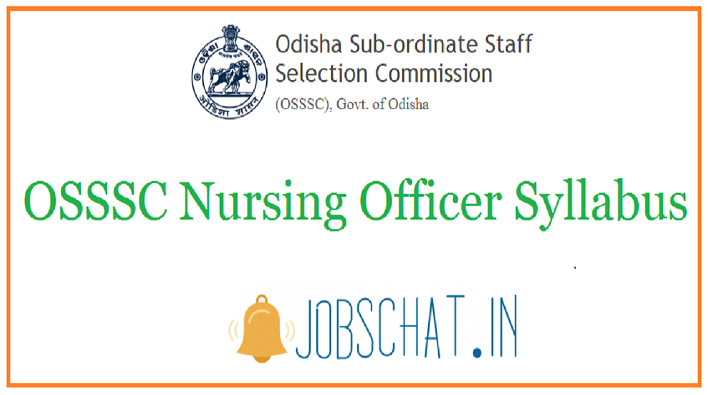 OSSSC Nursing Officer Syllabus