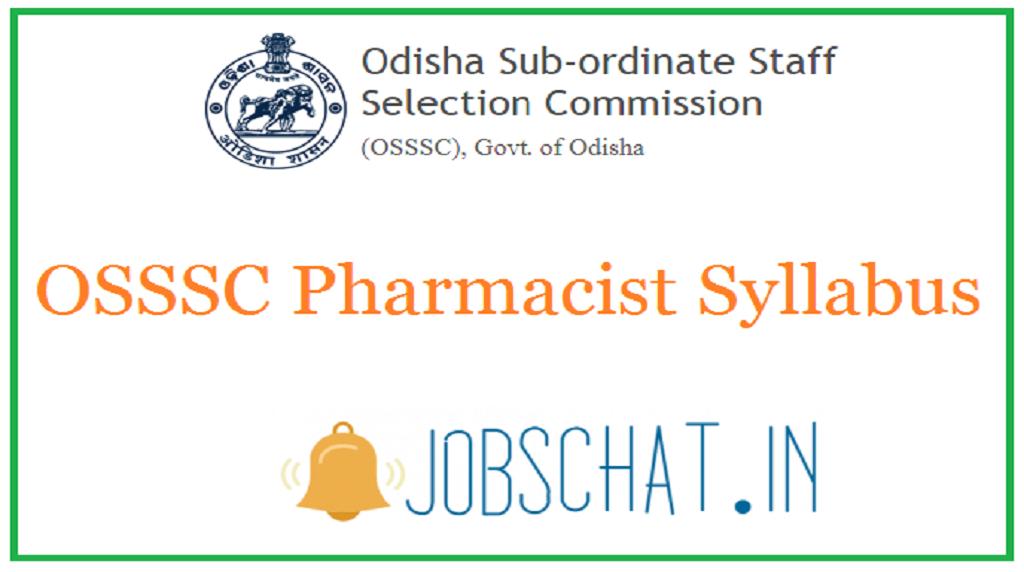 OSSSC Pharmacist Syllabus