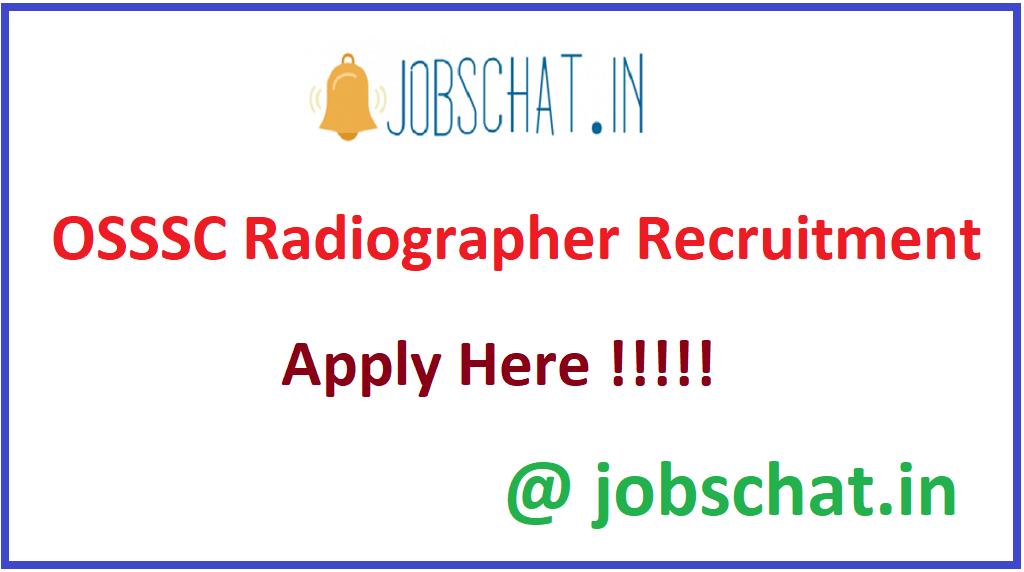 OSSSC Radiographer Recruitment