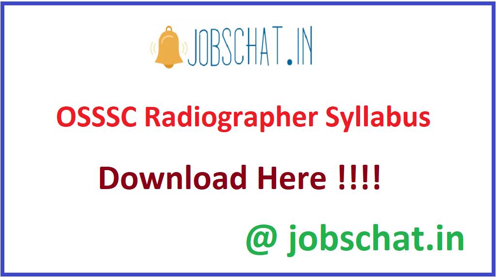 OSSSC Radiographer Syllabus