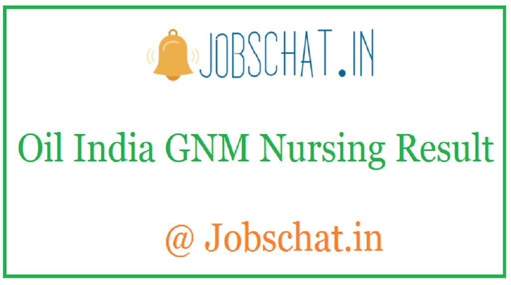 Oil India GNM Nursing Result