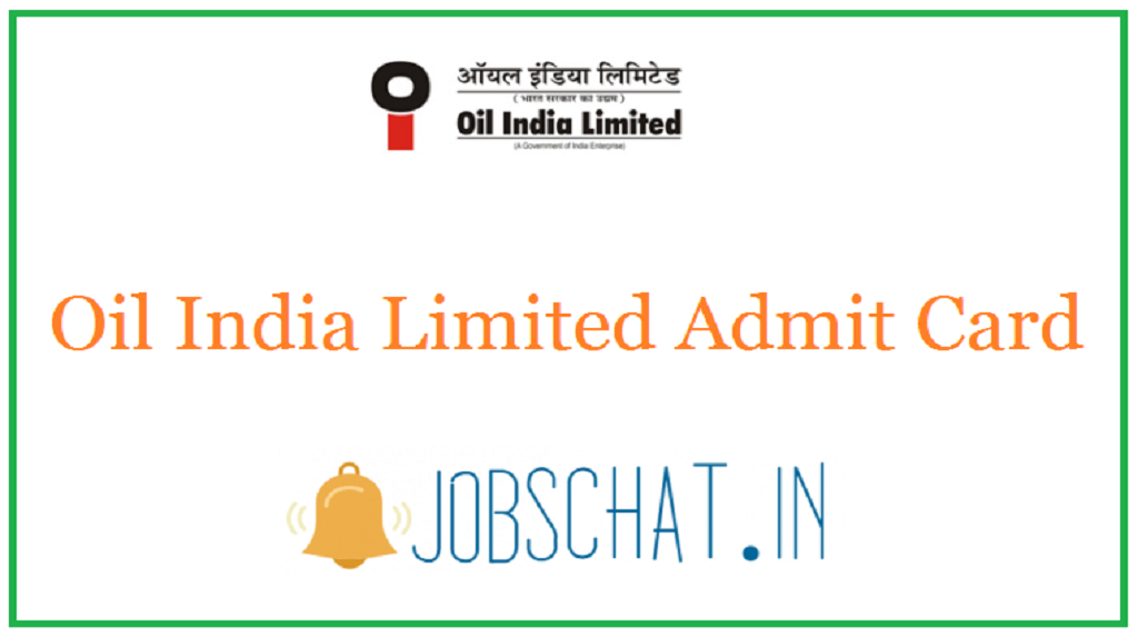 Oil India Limited Admit Card