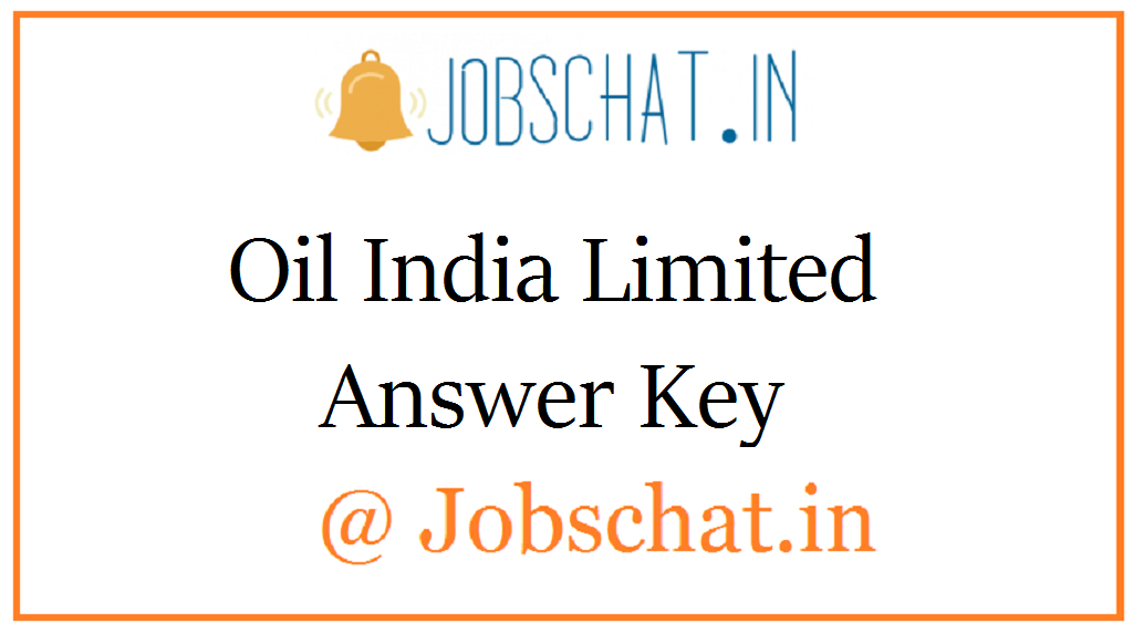 Oil India Limited Answer Key