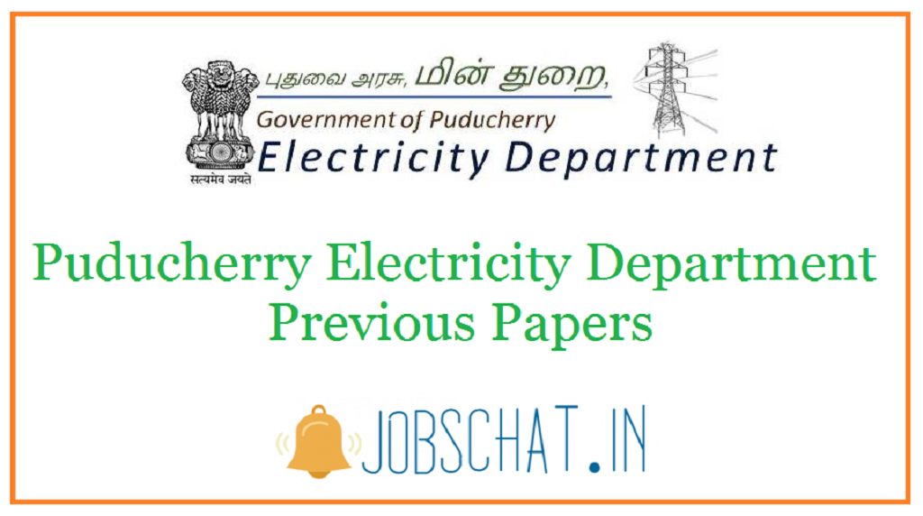Puducherry Electricity Department Previous Papers