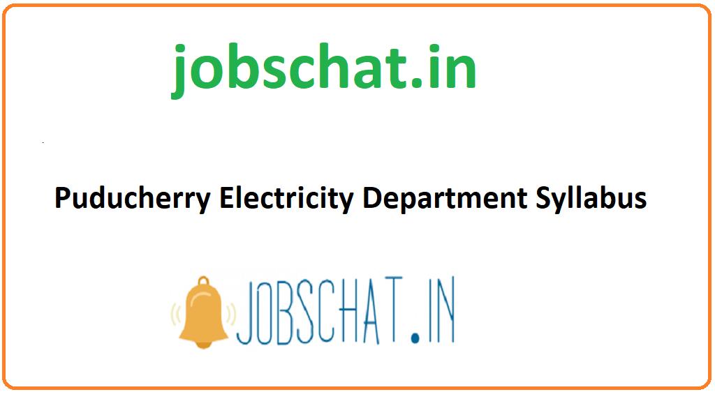Puducherry Electricity Department Syllabus