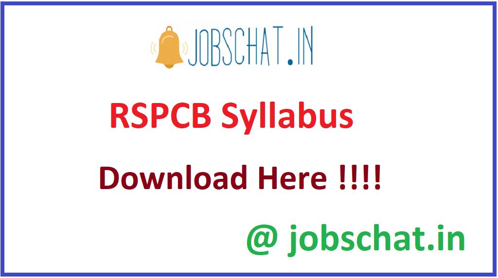 RSPCB Syllabus