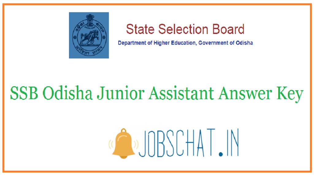 SSB Odisha Junior Assistant Answer Key