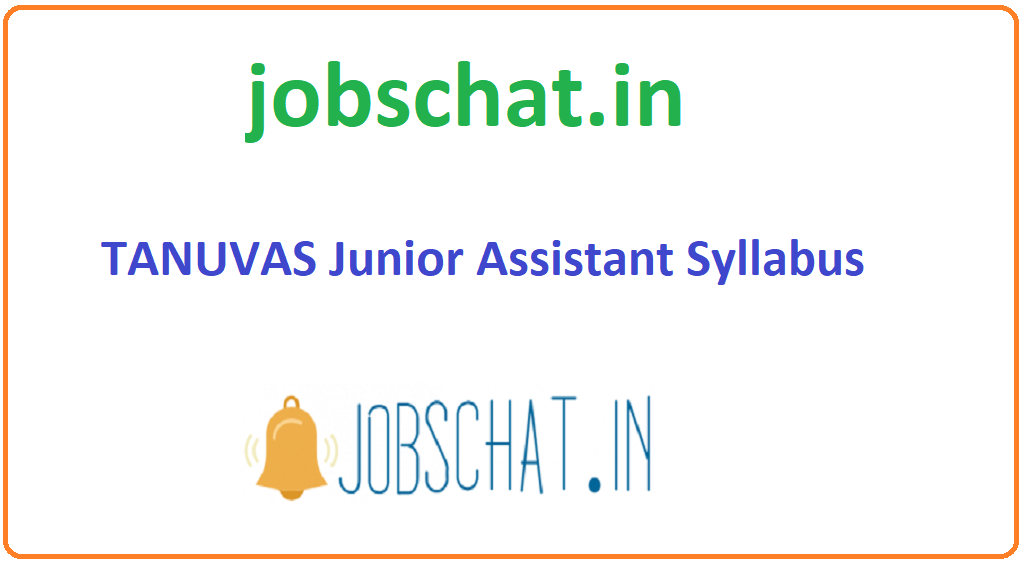TANUVAS Junior Assistant Syllabus