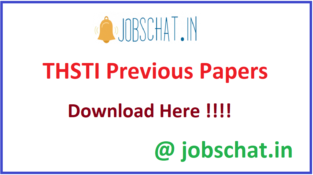 THSTI Previous Papers