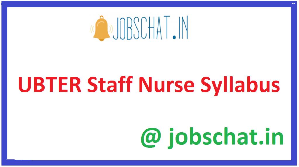 UBTER Staff Nurse Syllabus