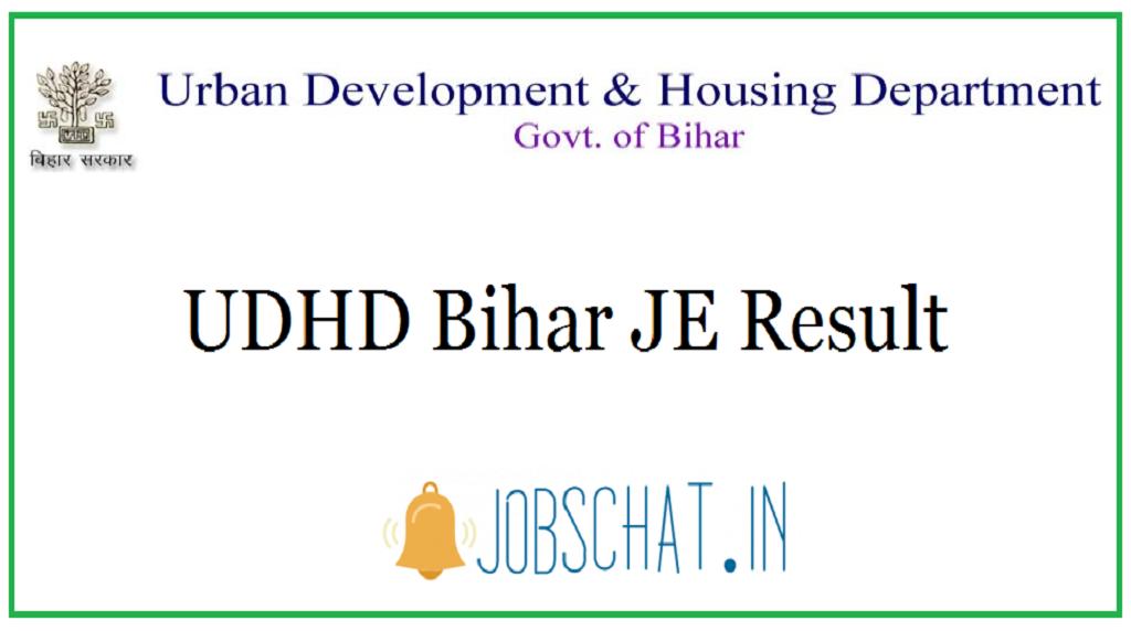 UDHD Bihar JE Result