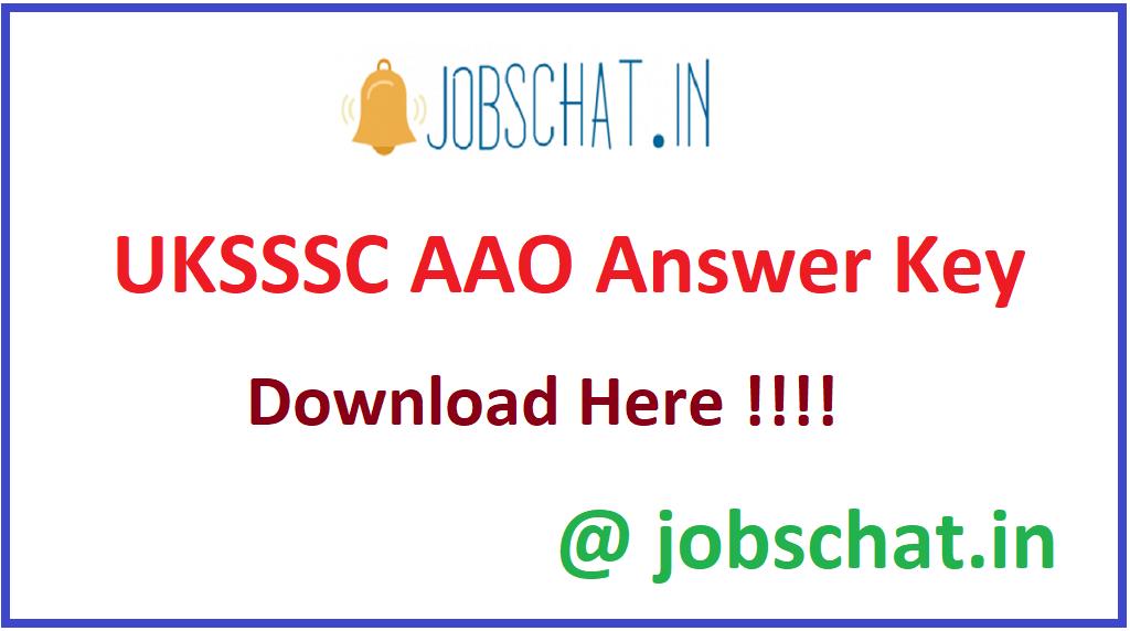 UKSSSC AAO Answer Key