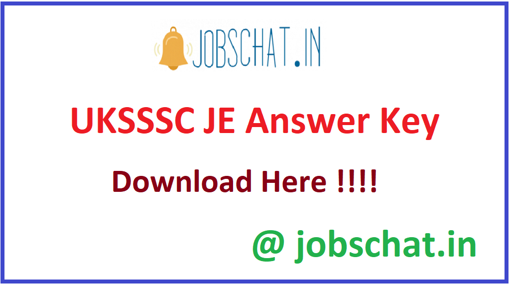 UKSSSC JE Answer Key