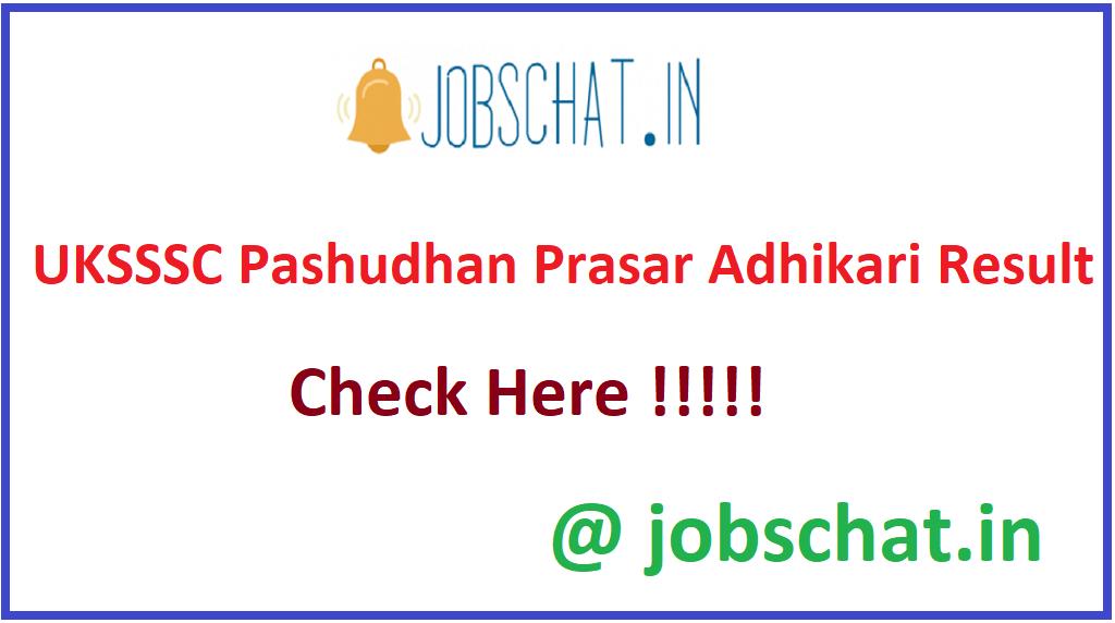 UKSSSC Pashudhan Prasar Adhikari Result