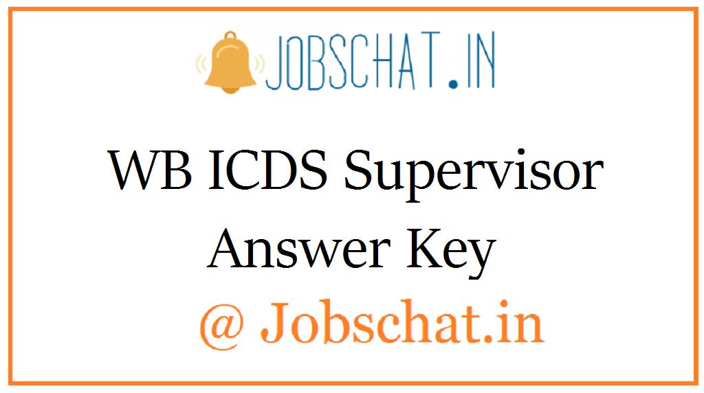 WB ICDS Supervisor Answer Key