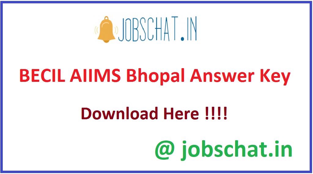 BECIL AIIMS Bhopal Answer Key